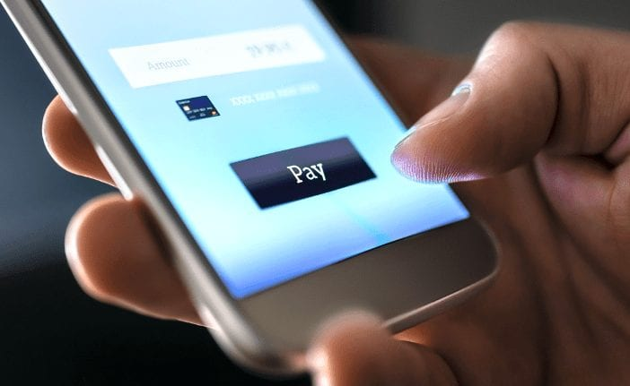 pay by phone app, online banking concept