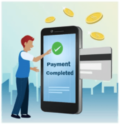 graphic to show paying by request to pay